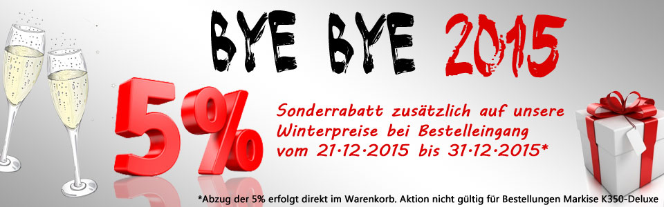 Bye Bye 2015 Sonderaktion