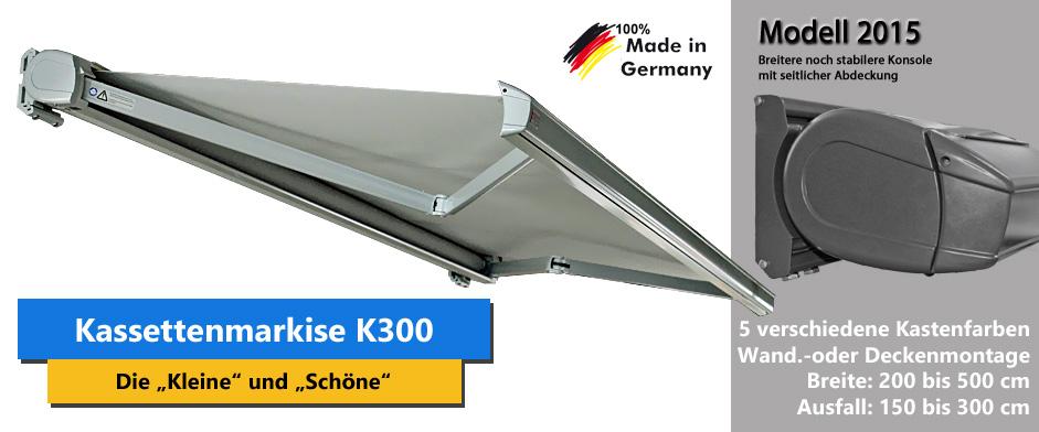 Kassettenmarkise K300 Online Bestellen