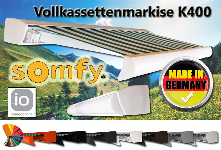 Vollkassettenmarkise K400 Online Bestellen