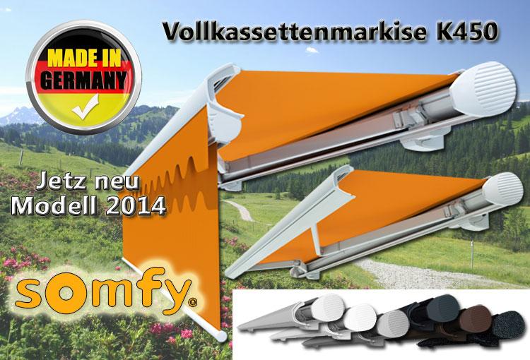 Vollkassettenmarkise K450 Online Bestellen