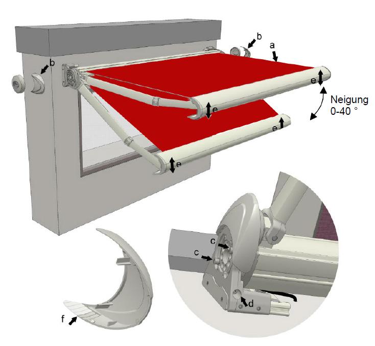 aktionsmarkise k300. Black Bedroom Furniture Sets. Home Design Ideas