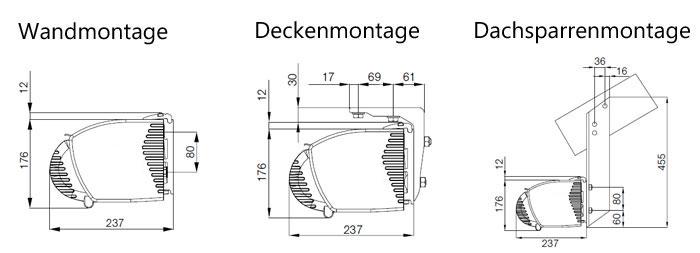 Vollkassettenmarkise k400 online bestellen Markisen montage decke