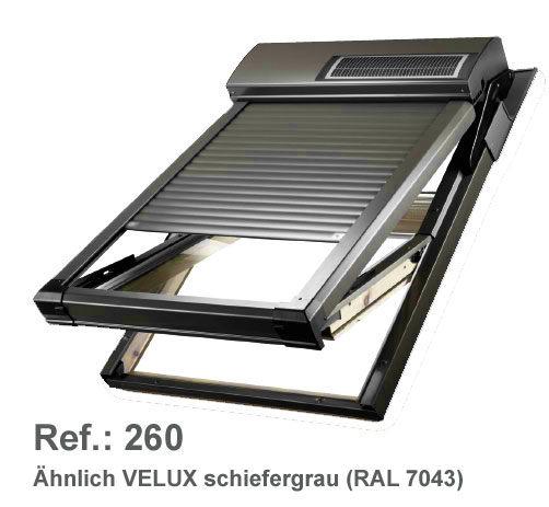 dachfenster rollladen solar velux rollladen online bestellen. Black Bedroom Furniture Sets. Home Design Ideas