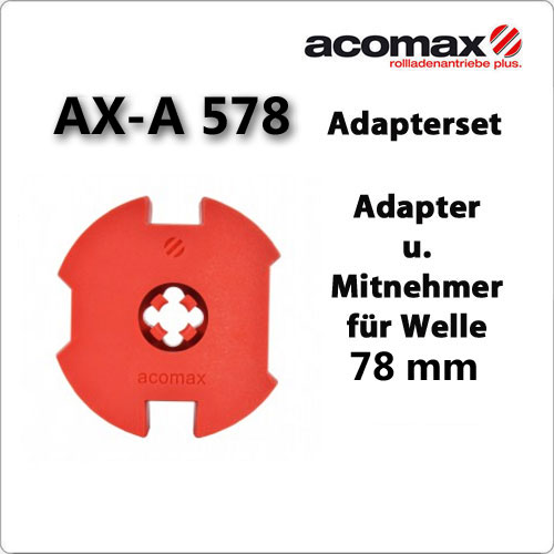 Adapterset AX-578 78 mm Welle ACOMAX