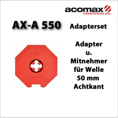 AX-A 550 Adaptersatz 50iger Achtkant-Welle ab 2019