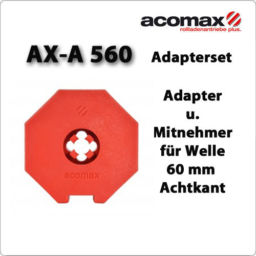 AX-A 560 Adaptersatz 60iger Achtkant-Welle ab 2019