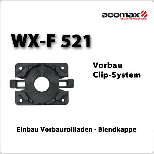 WX-F 521 Clip Motorlager