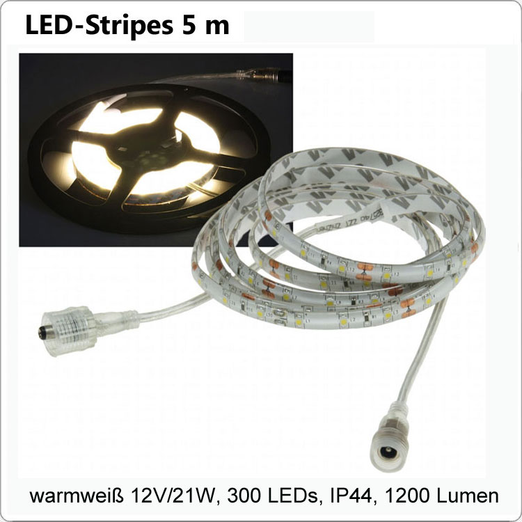 Flex LED Strip Warmweiss 5 m IP44- 12V/21W