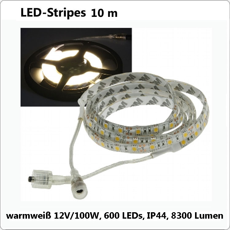 Flex LED Strip Warmweiss 10 m IP44 - 12V/100W