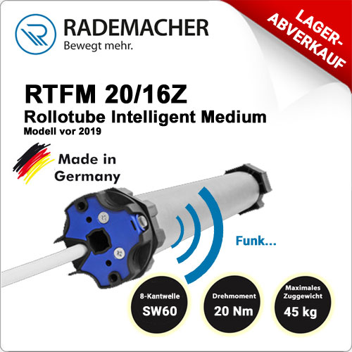 Rademacher RolloTube DuoFern Funk RTFM 20/16Z-Model vor 2019