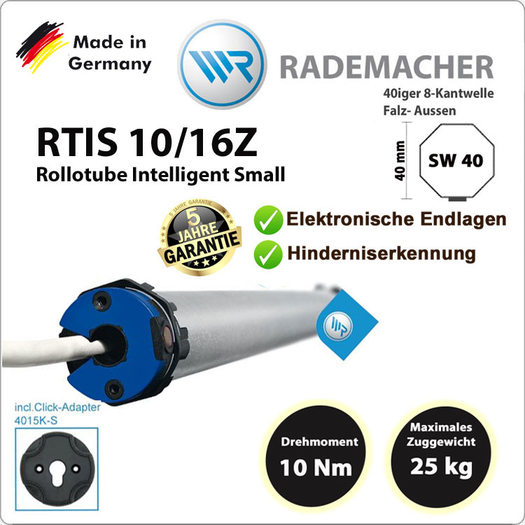 Rademacher Rollotube intelligent RTIS 10/16Z- 230V / 50HZ