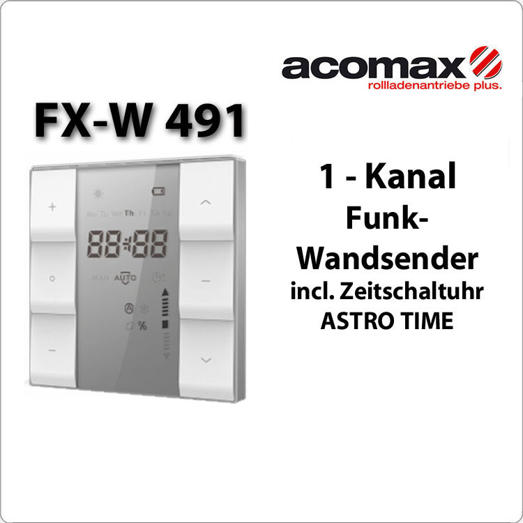 FX-W 491 ACOMAX Funk-Wandsender 1- Kanal  Astro Time