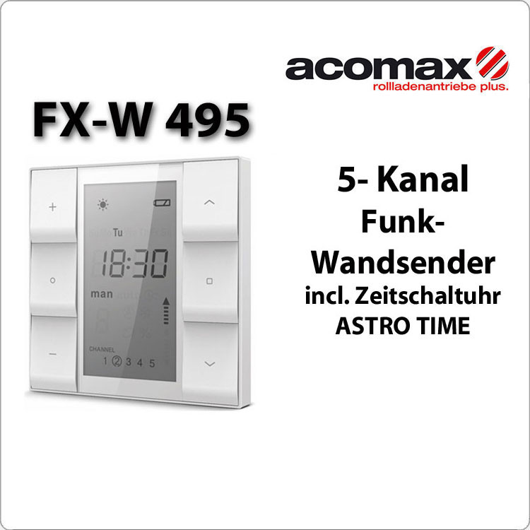 FX-W 495 ACOMAX Funk-Wandsender 5- Kanal  Astro Time