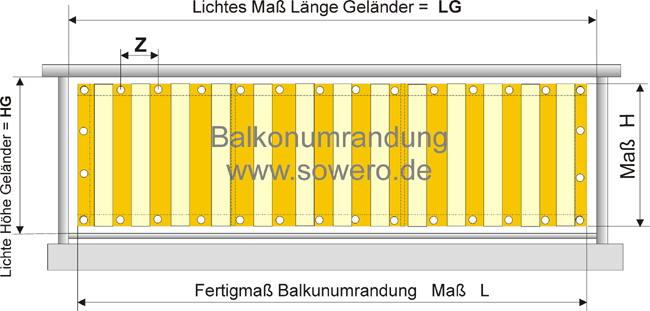 tipp s und empfehlung zum richtigen messen von balkonumrandungen. Black Bedroom Furniture Sets. Home Design Ideas